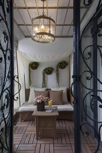 豪华型120平米三室一厅美式风格阳台设计图