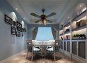 富裕型80平米一室两厅地中海风格餐厅效果图