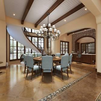 豪华型140平米别墅地中海风格餐厅装修图片大全
