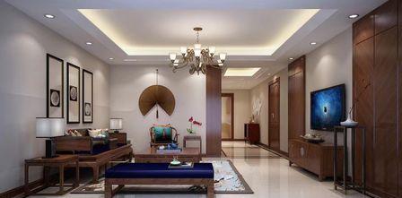 140平米四室一厅中式风格客厅设计图