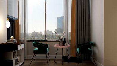富裕型90平米三室三厅现代简约风格书房欣赏图