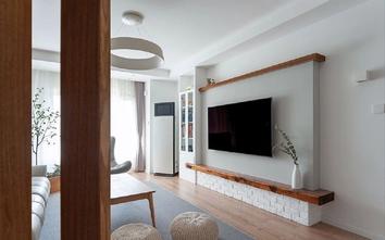 5-10万90平米三室一厅日式风格客厅装修图片大全