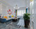 富裕型100平米三现代简约风格客厅图片大全