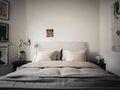 经济型50平米公寓混搭风格卧室设计图