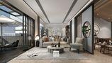 豪华型140平米复式混搭风格客厅图