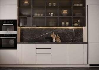 10-15万60平米公寓现代简约风格厨房装修图片大全
