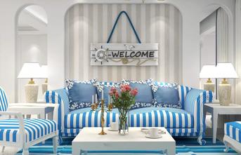 经济型130平米三室一厅地中海风格客厅装修效果图