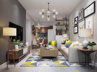 豪华型90平米三室两厅北欧风格客厅装修图片大全