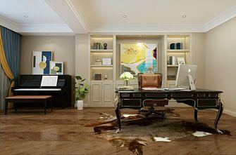 豪华型140平米三室一厅欧式风格书房装修案例