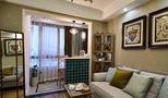 50平米一室一厅欧式风格客厅图
