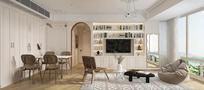 豪华型90平米法式风格客厅装修图片大全