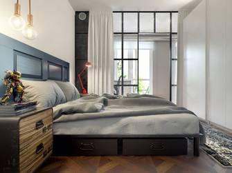 60平米一室两厅北欧风格卧室装修案例