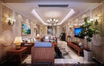 120平米三室两厅混搭风格客厅装修案例