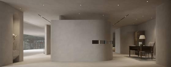 20万以上140平米公装风格客厅设计图