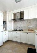 100平米三室一厅英伦风格厨房图片