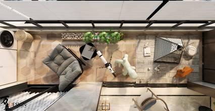 140平米四室两厅中式风格阳台设计图