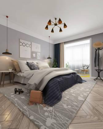 富裕型140平米三室两厅北欧风格卧室装修案例