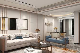 经济型140平米三室一厅轻奢风格餐厅装修图片大全
