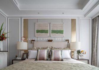 富裕型110平米三室两厅法式风格卧室装修图片大全