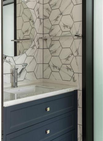 富裕型90平米三室一厅北欧风格卫生间设计图