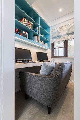富裕型80平米三室两厅现代简约风格书房装修案例