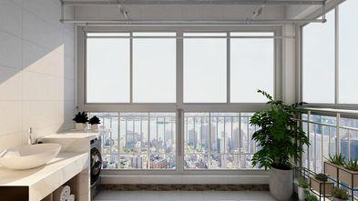 富裕型90平米三室两厅混搭风格阳台设计图