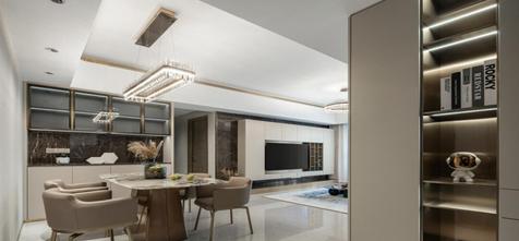 豪华型120平米四室一厅轻奢风格餐厅设计图