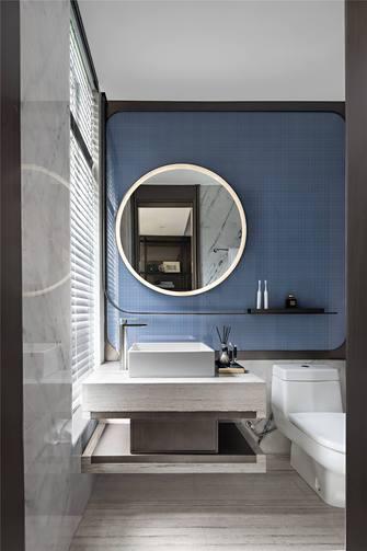 富裕型140平米三室两厅中式风格卫生间装修案例