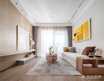 富裕型80平米三日式风格客厅装修效果图