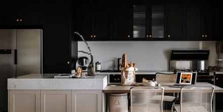10-15万100平米一室一厅现代简约风格厨房图