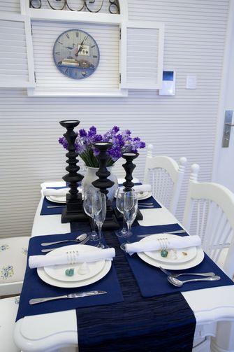 富裕型100平米地中海风格餐厅图片大全
