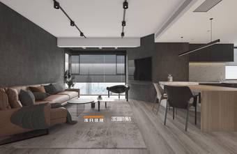 130平米四室两厅工业风风格餐厅图片大全