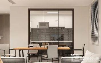 15-20万90平米三室一厅北欧风格餐厅图
