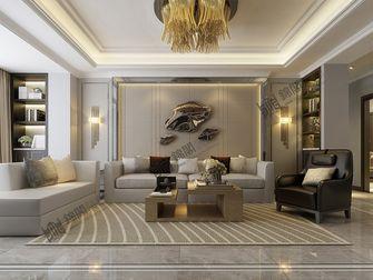 140平米三港式风格客厅装修效果图