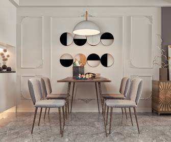 10-15万三室两厅法式风格餐厅图片大全