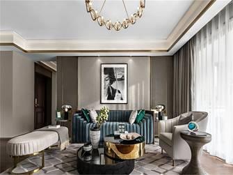 富裕型120平米三室两厅美式风格客厅装修图片大全