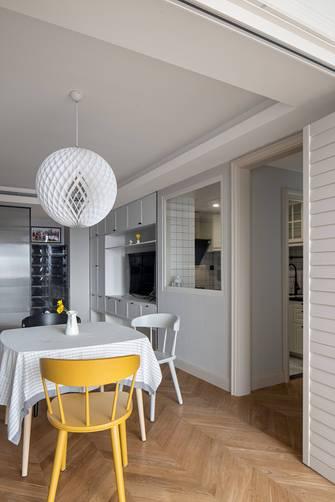 豪华型60平米一居室北欧风格餐厅图