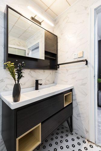 富裕型80平米三室两厅现代简约风格卫生间图