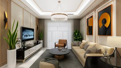 经济型100平米三室两厅英伦风格客厅效果图