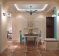 130平米地中海风格餐厅装修效果图