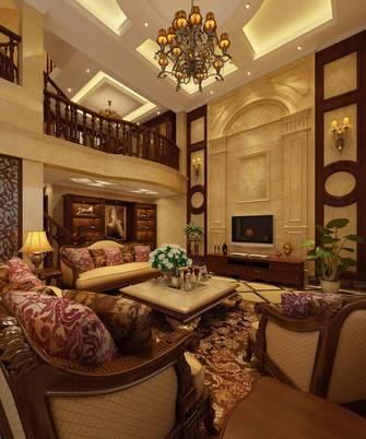 富裕型140平米别墅北欧风格楼梯间效果图