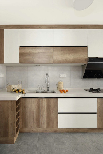 90平米三室一厅欧式风格厨房图