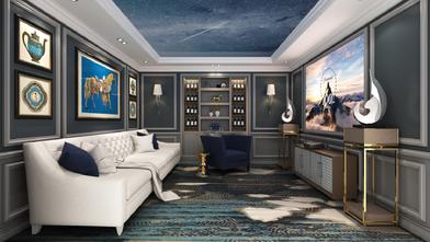 20万以上140平米别墅欧式风格影音室装修效果图