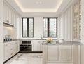 140平米复式法式风格厨房装修案例