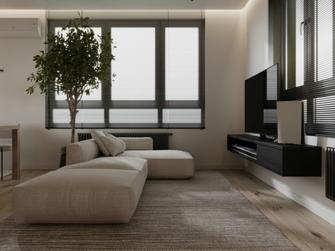 经济型70平米日式风格客厅设计图