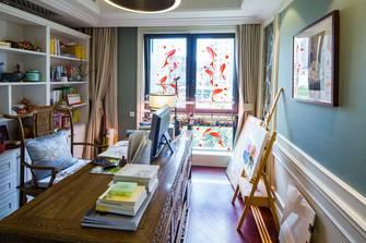 140平米别墅混搭风格书房图片大全