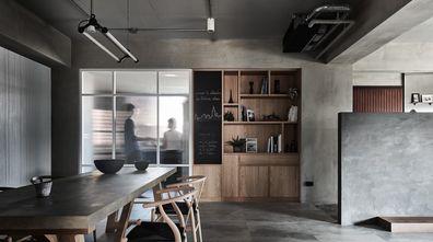 20万以上140平米四室一厅工业风风格餐厅装修效果图