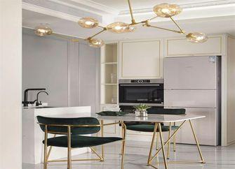 富裕型80平米三室一厅轻奢风格餐厅效果图