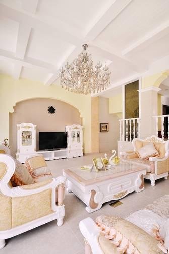 富裕型80平米田园风格客厅装修案例