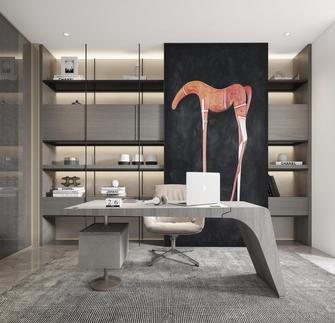 20万以上120平米三室一厅英伦风格书房图片